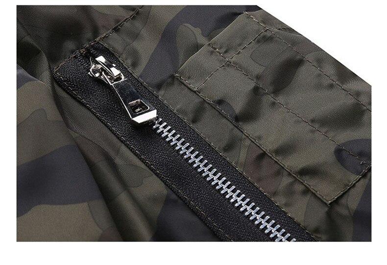 7XL Jackets Men 2019 Camouflage Jacket Male Coats Camo Bomber Mens Jacket Brand Cloth Outwear Baseball Collar Plus Size 5XL 6XL 16