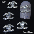 B731  10pcs/lot   Fashion logo Rhinestone Accessories Alloy DIY Nail Decoration For Finger Tips Nail Art