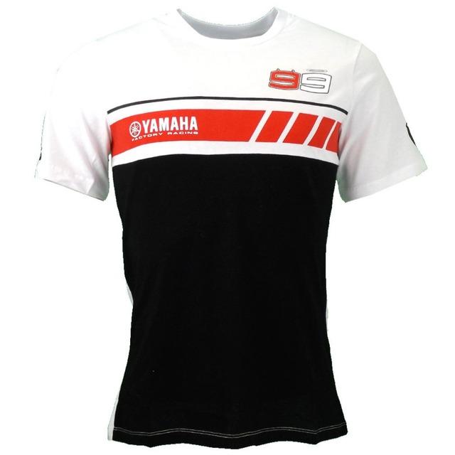 Envío gratis 2016 nueva jorge lorenzo 99 moto gp fábrica yama moto gp racing classic t-shirt camiseta camiseta
