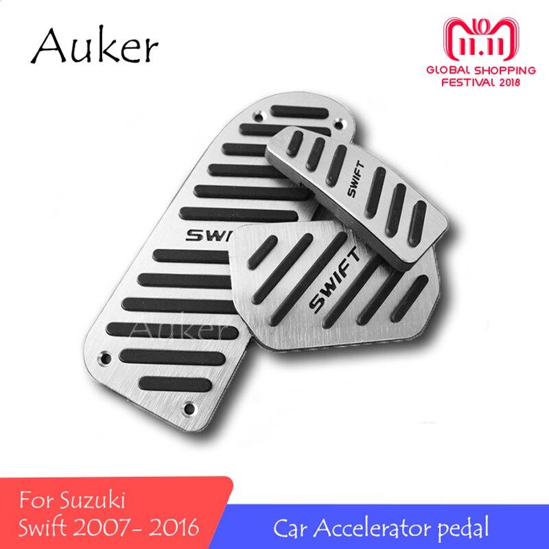 For Suzuki Swift 2007-2016 Car Styling Refit Accelerator Oil Footrest Pedal Plate Clutch Throttle Brake Treadle