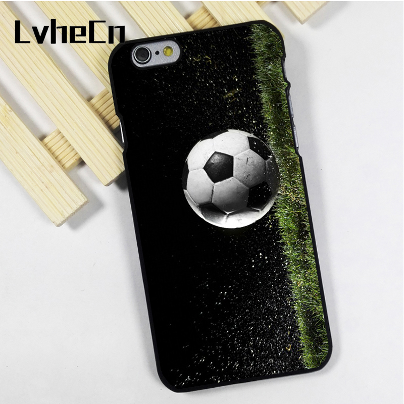 LvheCn phone case cover fit for iPhone 4 4s 5 5s 5c SE 6 6s 7 8 plus X ipod touch 4 5 6 Football Ball Soccer Sport Hobby
