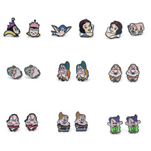 V144 1 Pair Princess Cute Ear Stud Earring for women Cartoon Studs Fashion Jewelry Prevent allergy Kids Gifts цена