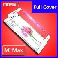 Xiaomi mi max vidrio templado MOFI original de xiaomi mi max pro excelente protector de pantalla película cubierta completa mi max vidrio templado 6 44
