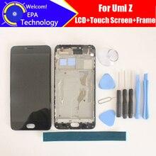 Umi Z LCD Display + Écran Tactile Digitizer + Cadre Assemblée 100% Original Nouveau LCD + Tactile Digitizer pour Z téléphone + Outils