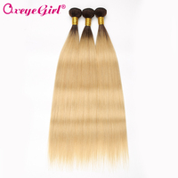 T1B/613 Ombre Hair Bundles Brazilian Hair Weave Bundles Colored Honey Blonde Bundles Straight Hair Human Hair Bundles Non Remy