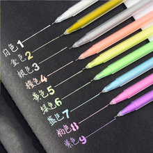 0.6mm Color Paint Marker Pens Highlight Liner Sketch Markers For Kids Writing Graffiti Gel Pen Art Manga Painting School Supply black card white highlight marker pens art hand painted pen sketch pens for diy drawing graffiti art supplies school stationery