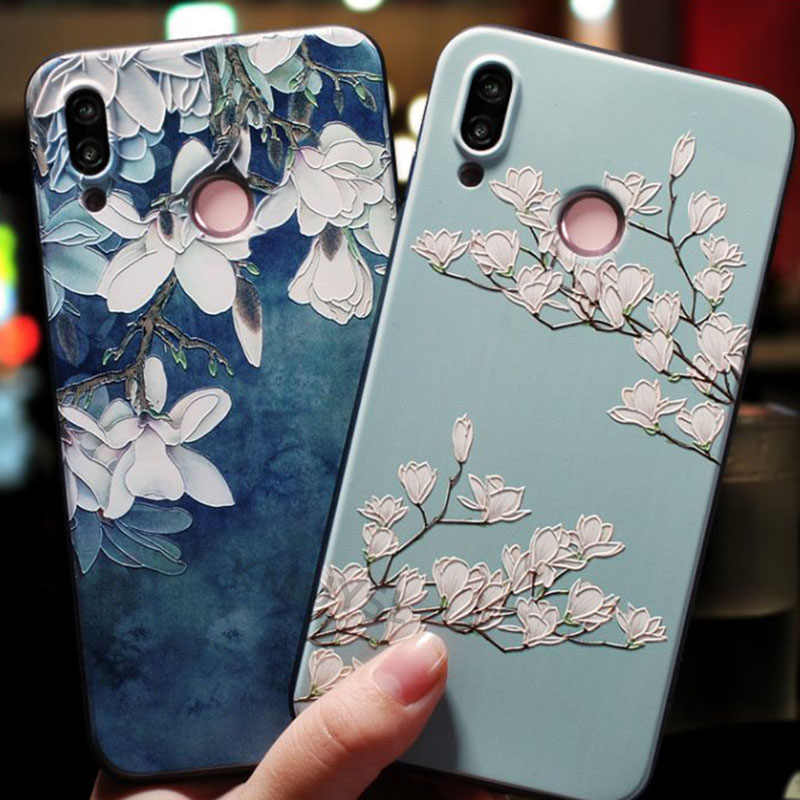 3D Flower Case For Huawei P30 Pro P20 P10 P9 Lite Nova 3 3i 4 Honor 8X 7A 7C Cover For Huawei Y7 Pro Y6 Prime P Smart Y9 2019
