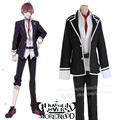 Sakamaki Ayato cosplay costumes Japanese anime  Diabolik Lovers clothing(Blazer+pants+Lead rope+belt)
