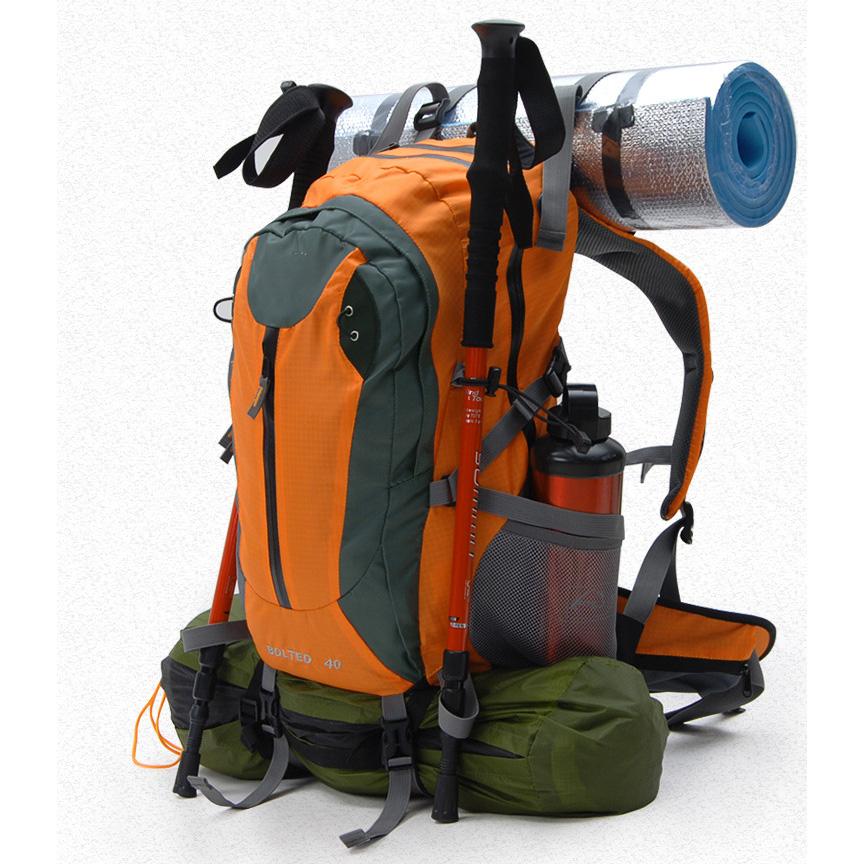 outdoor travel Tour 40 l mountaineering bag/backpack backpack with cover ZS6-2804 wind tour wtxkyb 4 in 1 outdoor travel one shoulder waist backpack bag red 20l