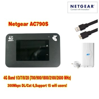 unlocked  AC790S cat6 300mbps 4g wifi router dongle Wireless Aircard 790S+ 4g antenna 49dbi