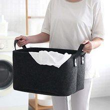 Urijk складная корзина для белья, корзина для хранения из шерстяного войлока, корзина для грязной одежды, держатель для игрушек, сумка для хранения, Домашний Органайзер, контейнер