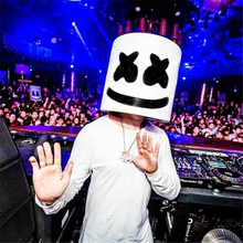 Marshmello Dj Mask Full Head Helmet Halloween Party Cosplay Costume Props Silicone Facial Face Masks цена и фото
