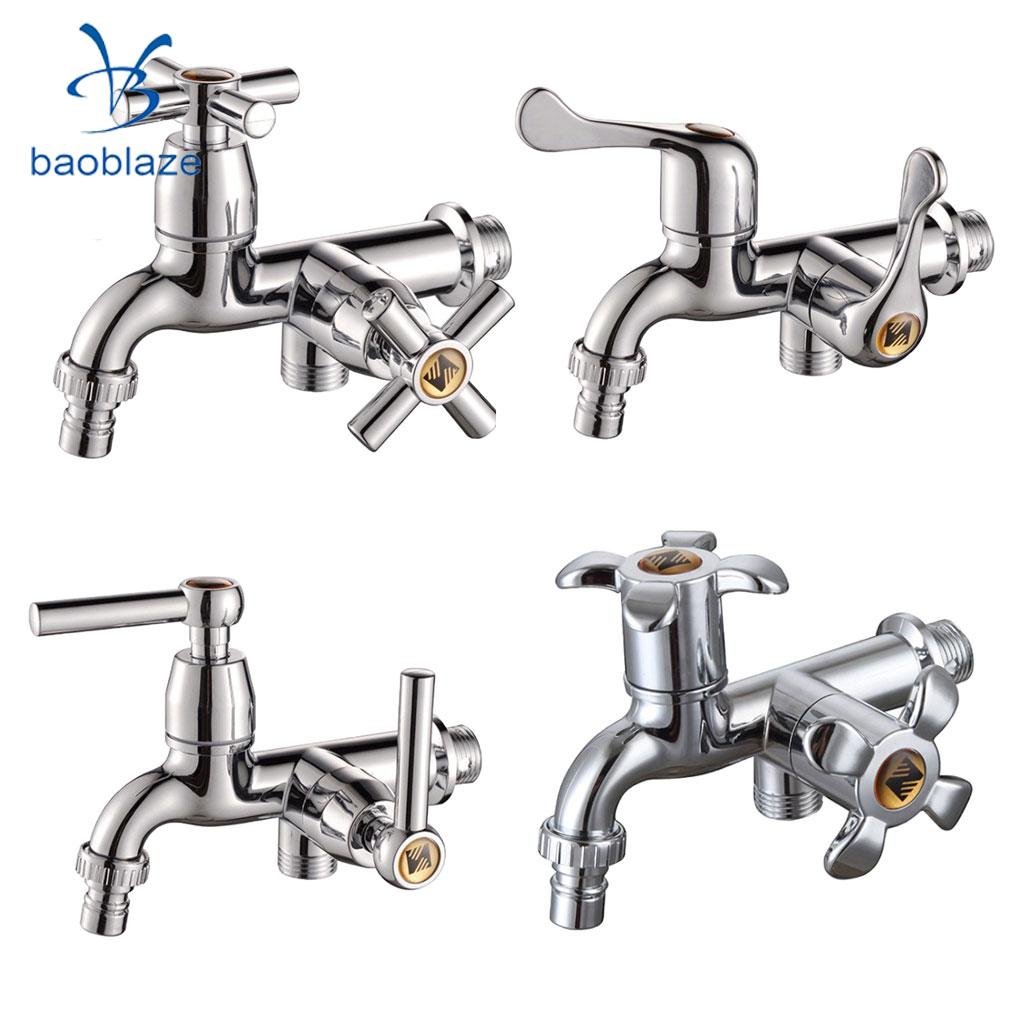 G1/2 Washing Machine Water Tap Sink Basin Bathtub Faucet For Home Bathroom Kitchen Garden, Wall Mounted