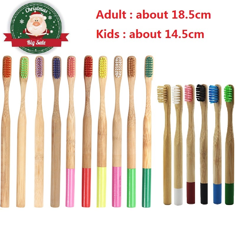 Wholesale 1PCS Adult and <font><b>Kids</b></font> Colorful Bamboo <font><b>Toothbrush</b></font> Natural Low-carbon Eco-friendly Soft Bristle <font><b>Toothbrush</b></font> Oral Care image