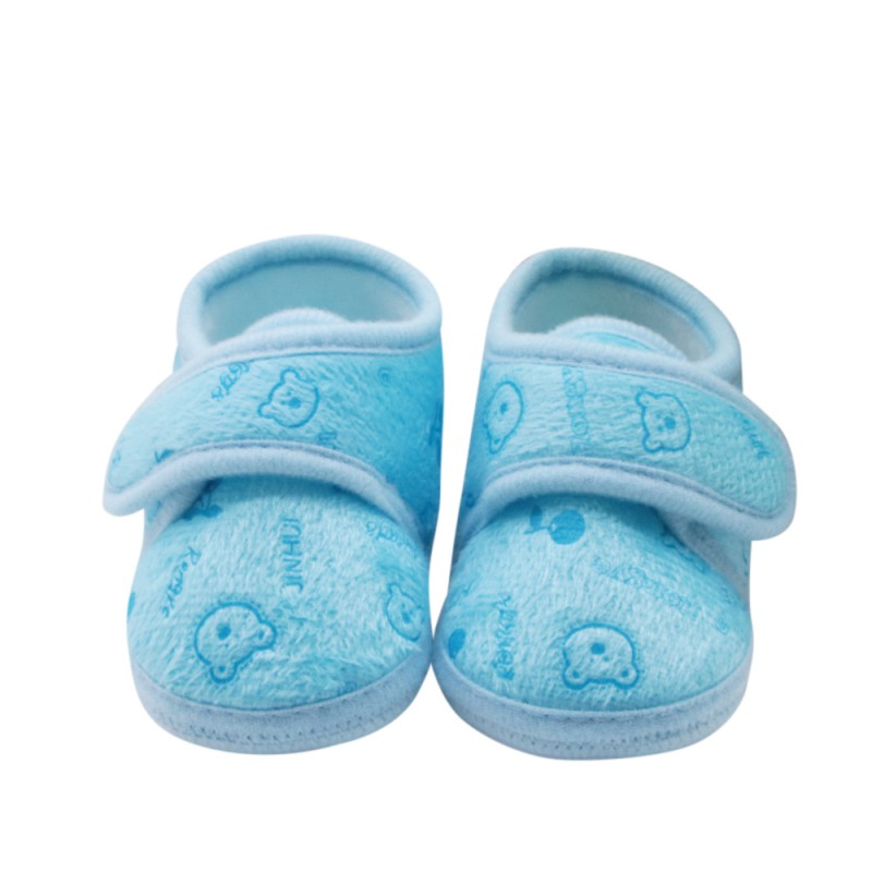2018 New Arrivals Cotton Baby Skates Magic Sticks First Step Autumn Spring Cute Baby Girl Printing Bear Shoes E1