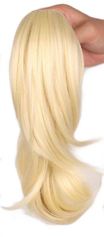 QQXCAIW Femmes Filles Bouclés Conchyliculture Blonde Noir Brun Griffe Queue de Cheval Postiche Clip dans Synthétique Extension de Cheveux Poney Queue