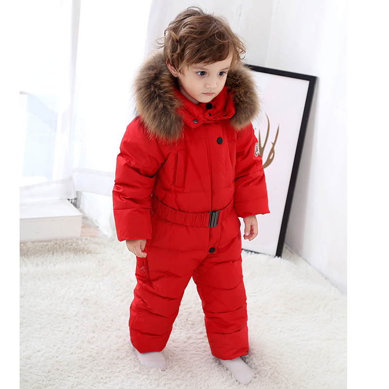 a89c51366 Winter Baby Boys Girls Clothes Kids Clothing Sets Hooded Down Jacket ...
