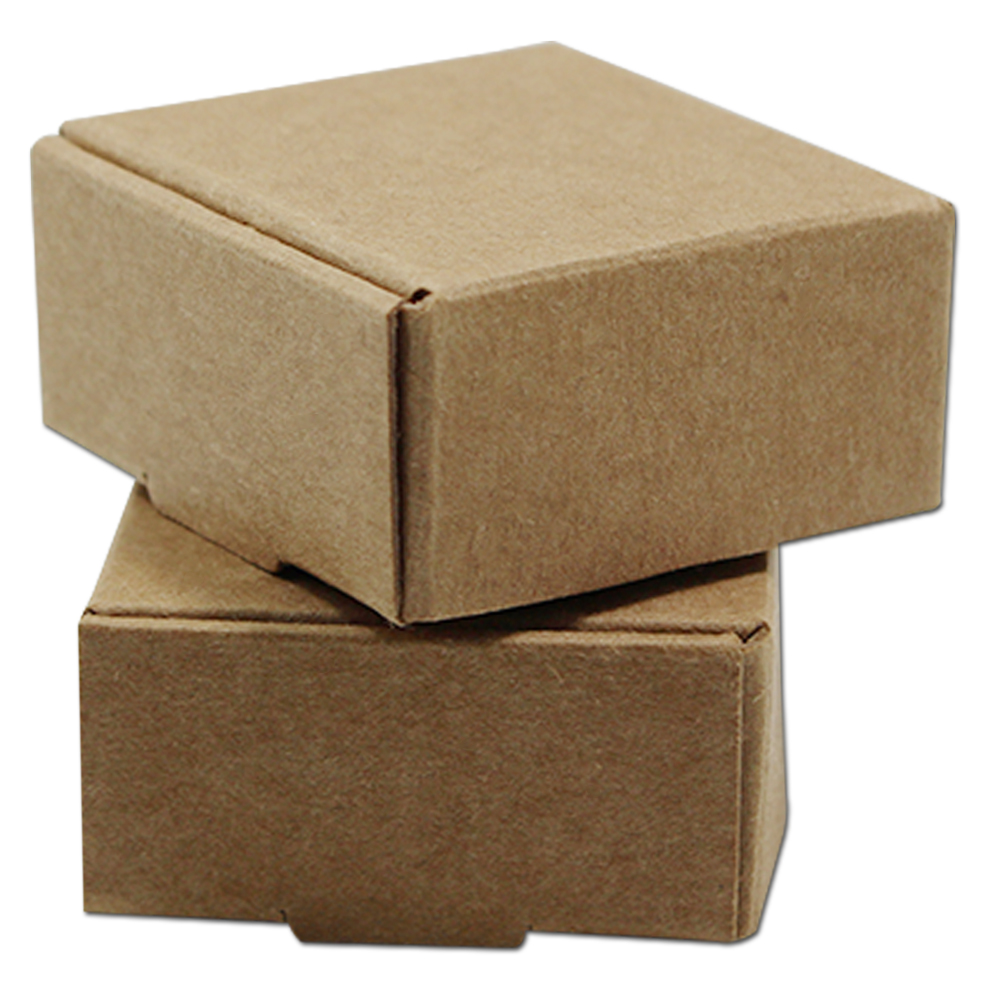 100pcs/Lot Multi-sizes Kraft Paper Boxes Brown DIY Gift Package Box Foldable Papercard Boxes For Christmas Wedding Decoration