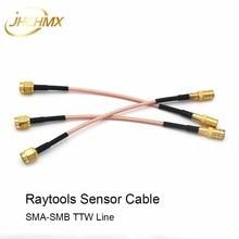 купить JHCHMX 3pcs/lot Raytools Sensor Cable Transformer Wire SMB-SMA TTW Line For Raytools Fiber Laser Cutting Head BT230/BT240 BM110 дешево