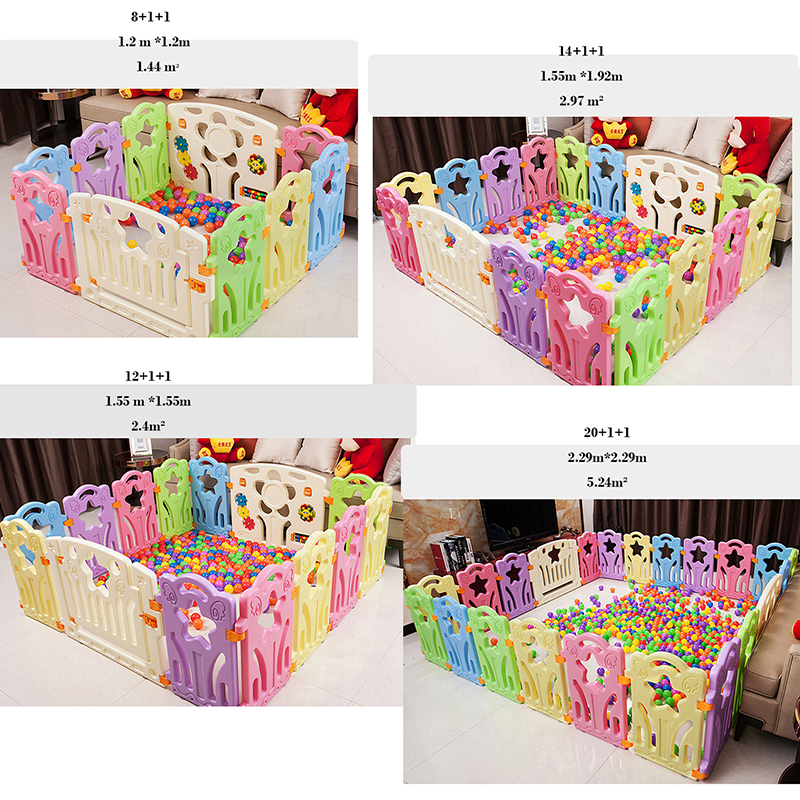 Baby Playpen Toys For Children Kids Dry Ball Pool Play Game Fencing To Train Toddler Indoor Activity Star Gear Safety Playground