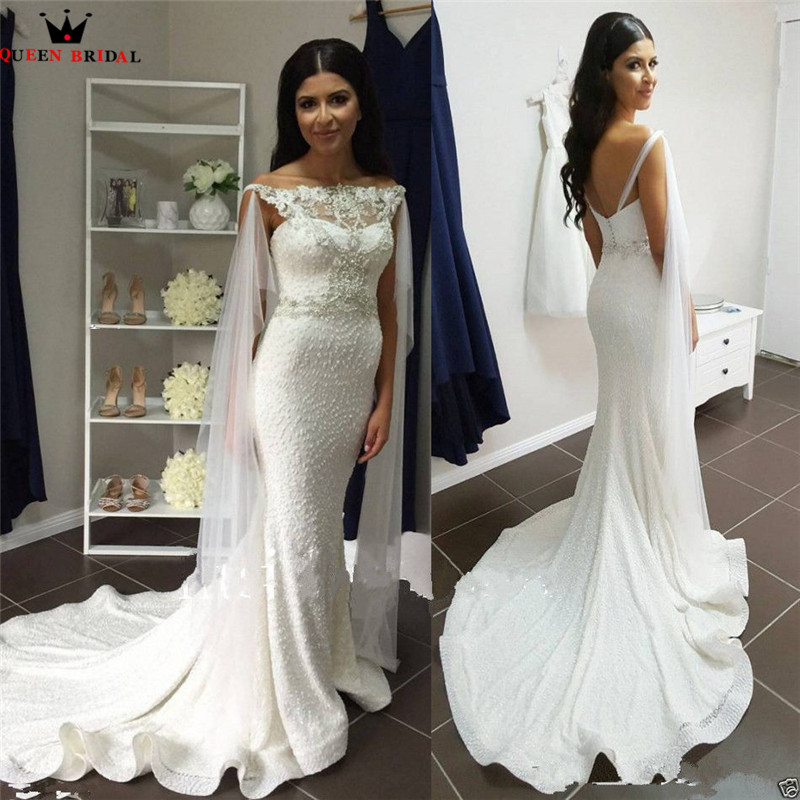 Risque Wedding Dress Photos: Sexy Wedding Dresses Mermaid Lace Pearls Beads Crystal