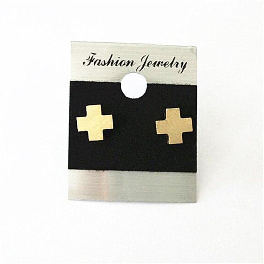 Gold Women Men Earrings Stud Stainless Steel Cross Earring Piercing Birthday Gifts Silver Aretes De Mujer For Christ Prayer Gift
