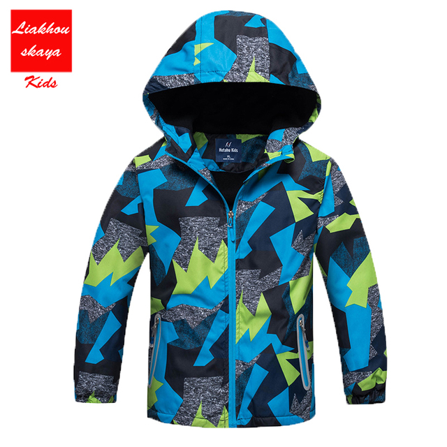 2017 Spring Jacket Girls Boys Casual Windbreaker Jackets Coats Kids Outerwear Sporty with hoodie Clothes Double-deck Waterproof