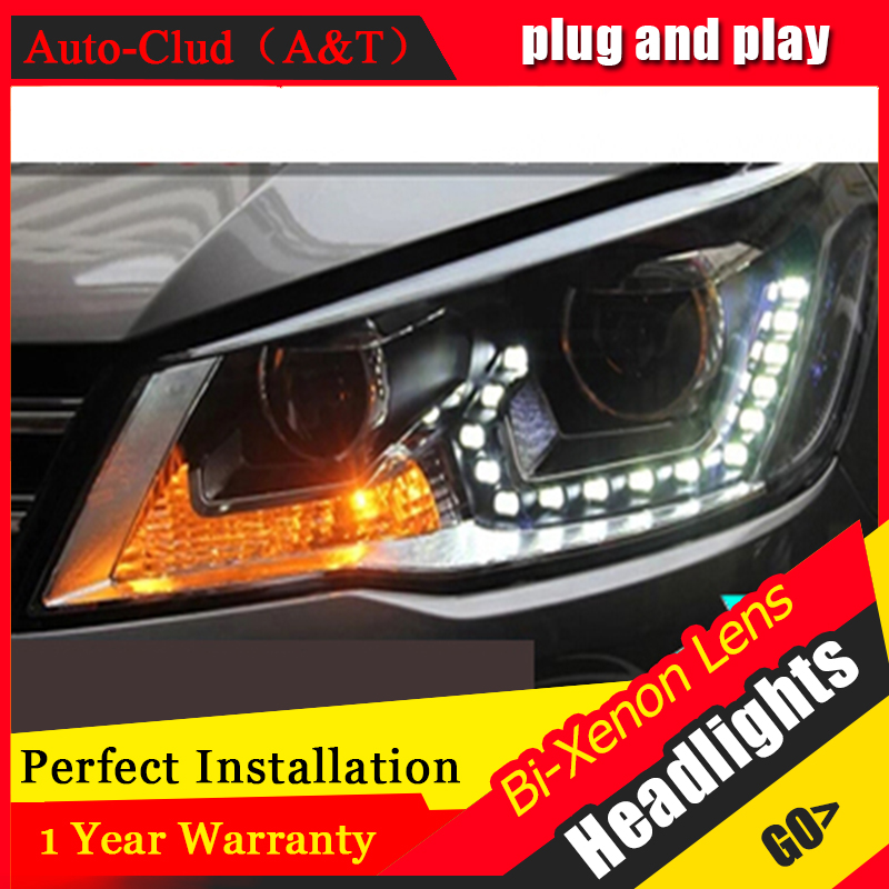 Auto Clud 2013 2014 2015 vw jetta MK6 headlights LED car styling 15 LED DRL Q5