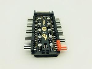 Image 3 - 最新 1 に 10 PC 冷却ファンハブスプリッタ LED ケーブル PWM SATA 12 V 電源スピードコントローラアダプタ bitcoin Miner のマイニングのための