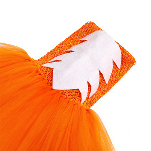 Image 5 - Cute Fox Tutu Dress Outfit Toddler Baby Girls Birthday Party Dress Crazy Animal Nick Halloween Carnival Cosplay Costume for Kids