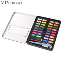 36 Colors Solid Watercolor Paint Professional Box With Sponge Portable Pigment For Painting Art Supplies Students Papelaria