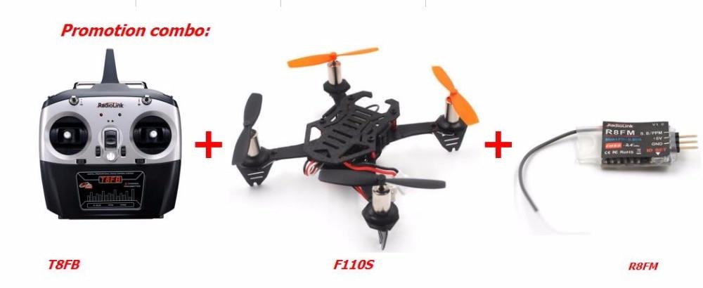Radio émetteur Radiolink T8FB accélérateur gauche + F110S FPV drone + R8FM récepteur promotion combo