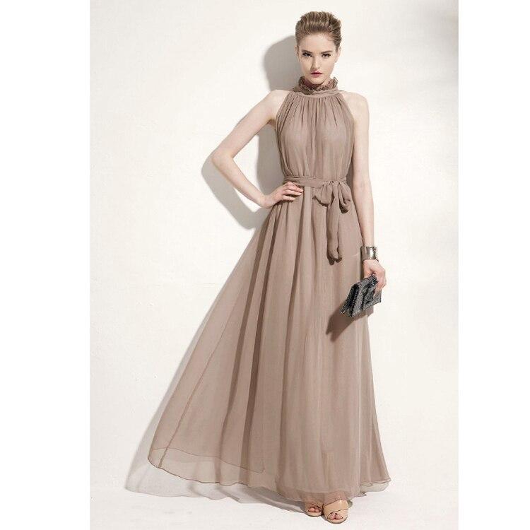 Aliexpress.com : Buy V back chiffon Maternity Evening Dress Long ...