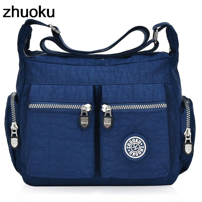 Designer Handbag Tote Messenger-Bags Crossbody-Bag Top-Handle Nylon Hobos Female Casual