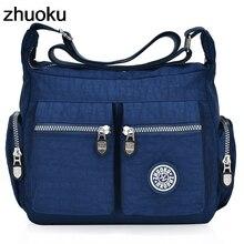 Женская сумка через плечо с верхней ручкой, дизайнерская сумка известного бренда, нейлоновая Женская Повседневная сумка для покупок, вместительная сумка через плечо, сумки-мессенджеры