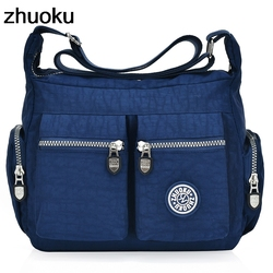 Women Top-handle Shoulder Bag Designer Handbags Famous Brand Nylon Female Casual Shopping Tote Hobos Bolsas ZHUOKU New