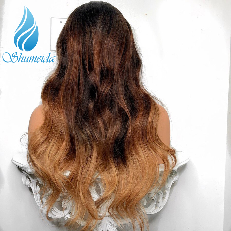 Image 3 - 3 Tones Color 13*6 Lace Front Wig with Baby Hair Brazilian Body Wave Remy Human Hair Wigs For Women Pre Plucked Natural Hairline-in Human Hair Lace Wigs from Hair Extensions & Wigs