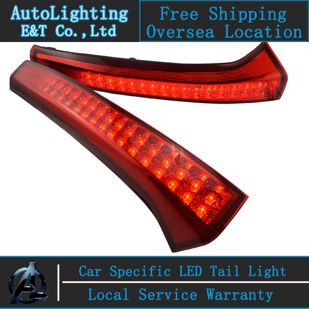 Car Styling Sportage tail lights 2012-2013 For Kia Sportage LED Tail Lamp rear trunk lamp cover drl+signal+brake+reverse black fabric rear trunk security shield cargo cover for kia sportage 2010 2011 2012 2013