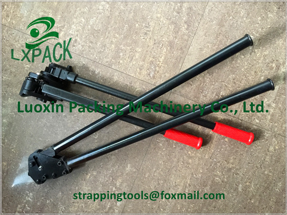 LX-PACK Lowest Factory Price Manual Sealless Steel Strapping Machine, Steel Strapping Tensioner and Sealer,13-19mm steel strap lx pack brand lowest factory price pneumatic combination steel strapping tools strapping machines and tools bestop hand tools