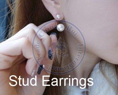 Stud Earrings ear rings Fashion for women Girls lady faux pearl design CN post
