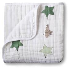 Adamant נמלה עדן אנאיס 2 שכבות שמיכת Swaddleing תינוקות כותנה מצעים גיליון מוסלין שמיכת נסיעות עבור תינוקות ליילוד