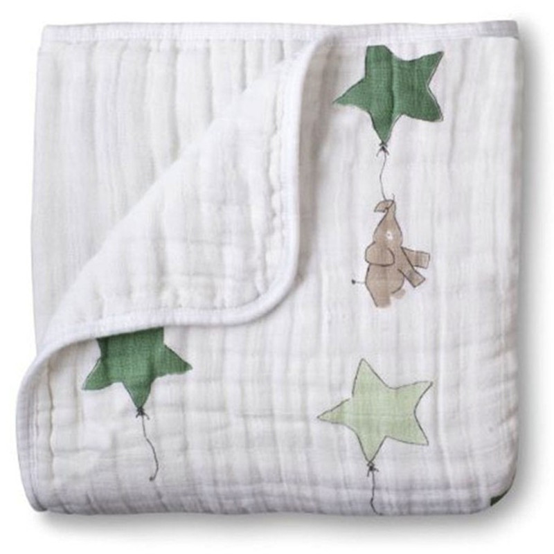 Adamant Ant Aden Anais 2 Layers Blanket Swaddleing Infant Cotton Bedding Sheet Muslin Travel Blanket For Babies For Newborn