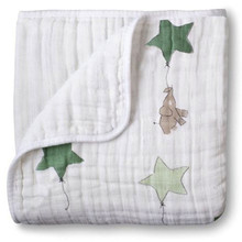 Двухслойное одеяло из Адена adamant, Пеленальное хлопковое постельное белье для младенцев, дорожное одеяло из муслина для младенцев и новорожденных