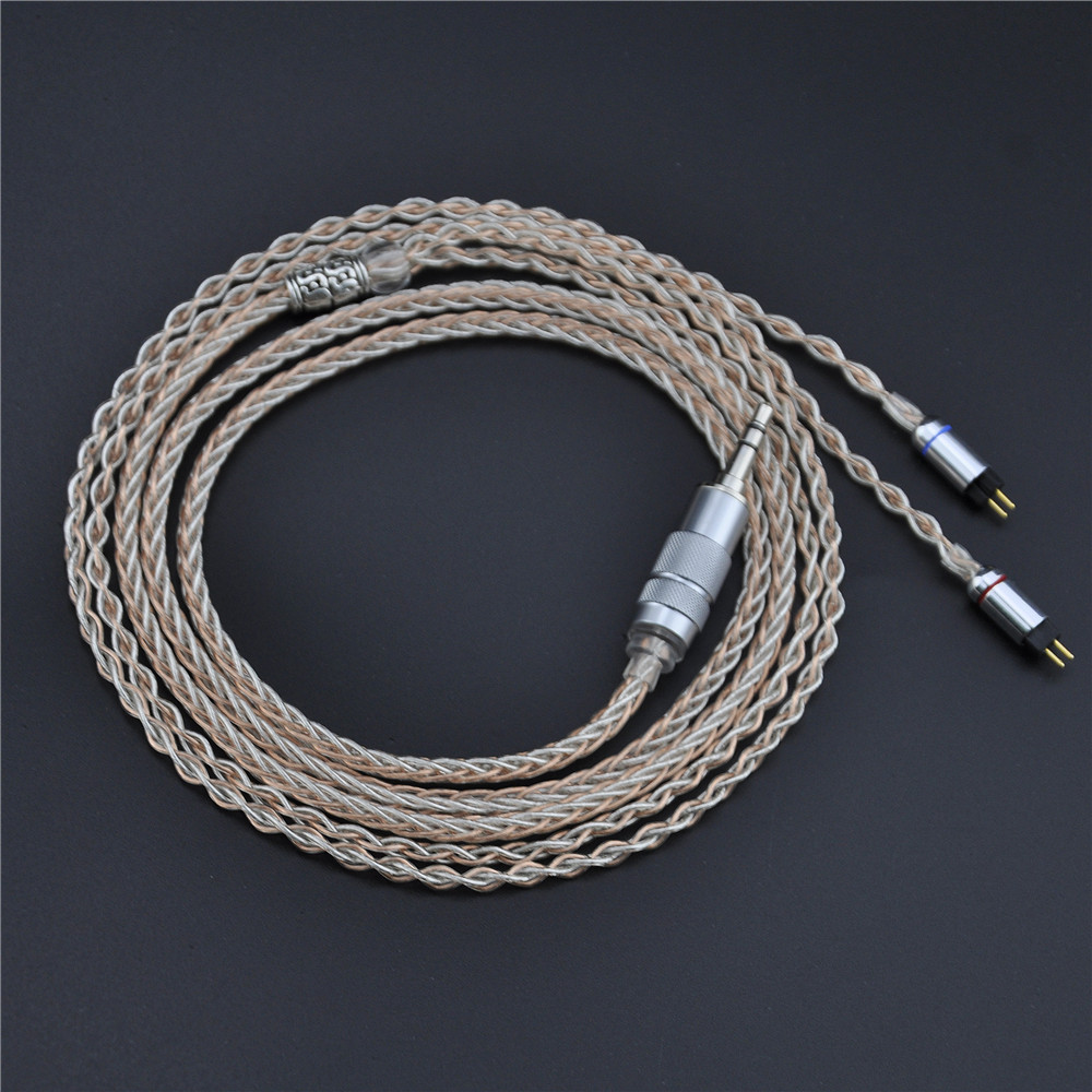 Здесь продается  New 8 Core Upgraded 3.5mm Cable 7N Single Crystal Copper Plated Cable With 0.78mm 2pin Connector For KZ ZS5 Universal Type  Бытовая электроника