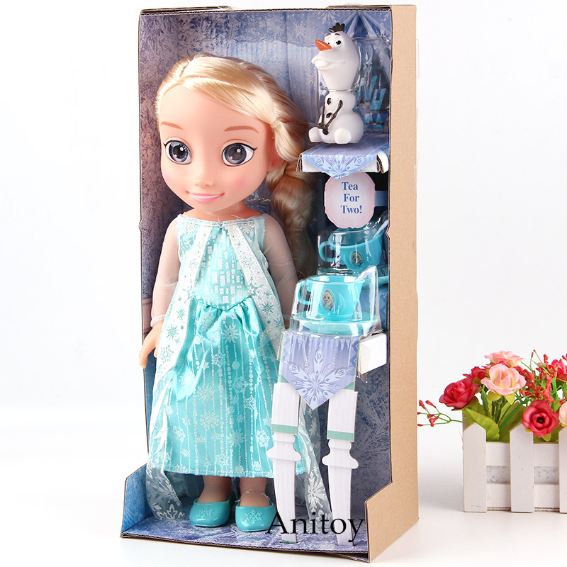 Olaf's Adventure Princess Doll Elsa Anna Tangled Rapunzel Figure PVC Action Figures Toys for Kids