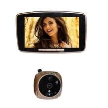 2017 New door peephole videoglazok 5.0inch Touchable LCD 2.0Megapixels camera IR Night vision Motion Sensor SIM call MMS Alarm