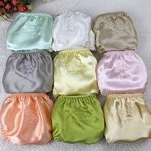 נשים משי סאטן תחתונים נשי פרחוני רקמת תחתוני 3psc חבילה גבירותיי תחתוני תחתונים