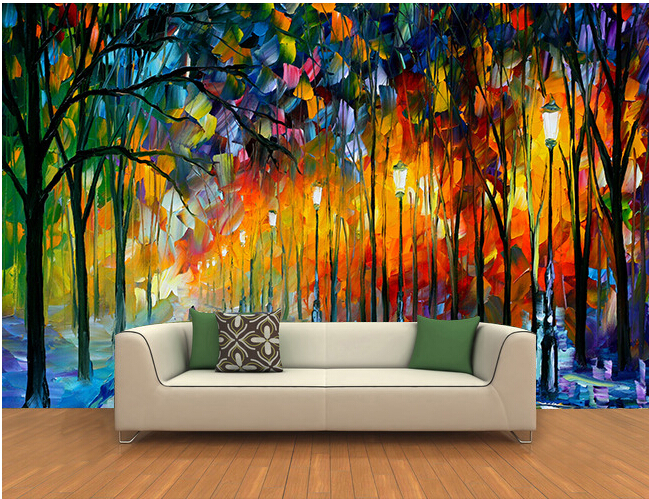 The Custom 3D Murals,3 D Forest Landscape Paintings Papel De Parede,living Room Sofa TV Wall Bedroom Wall Paper