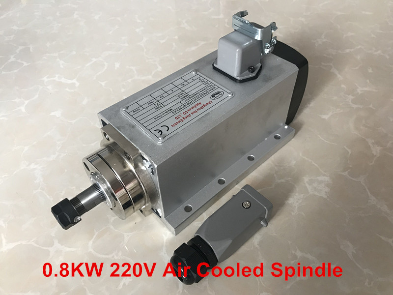 800w Air Cooled Spindle Motor CNC Spindle Motor 800W 220V Square Milling Machine huajiang brand new arrive 1 5kw spindle motor 220v air cooled motor 400hz hot selling cnc spindle motor machine tool spindle