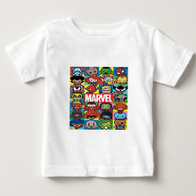 The Super Hero Cartoon Edition T shirt kid t summer top boy/girl T-shirt baby t-shirt white Short Sleeve tshirts 2-15year